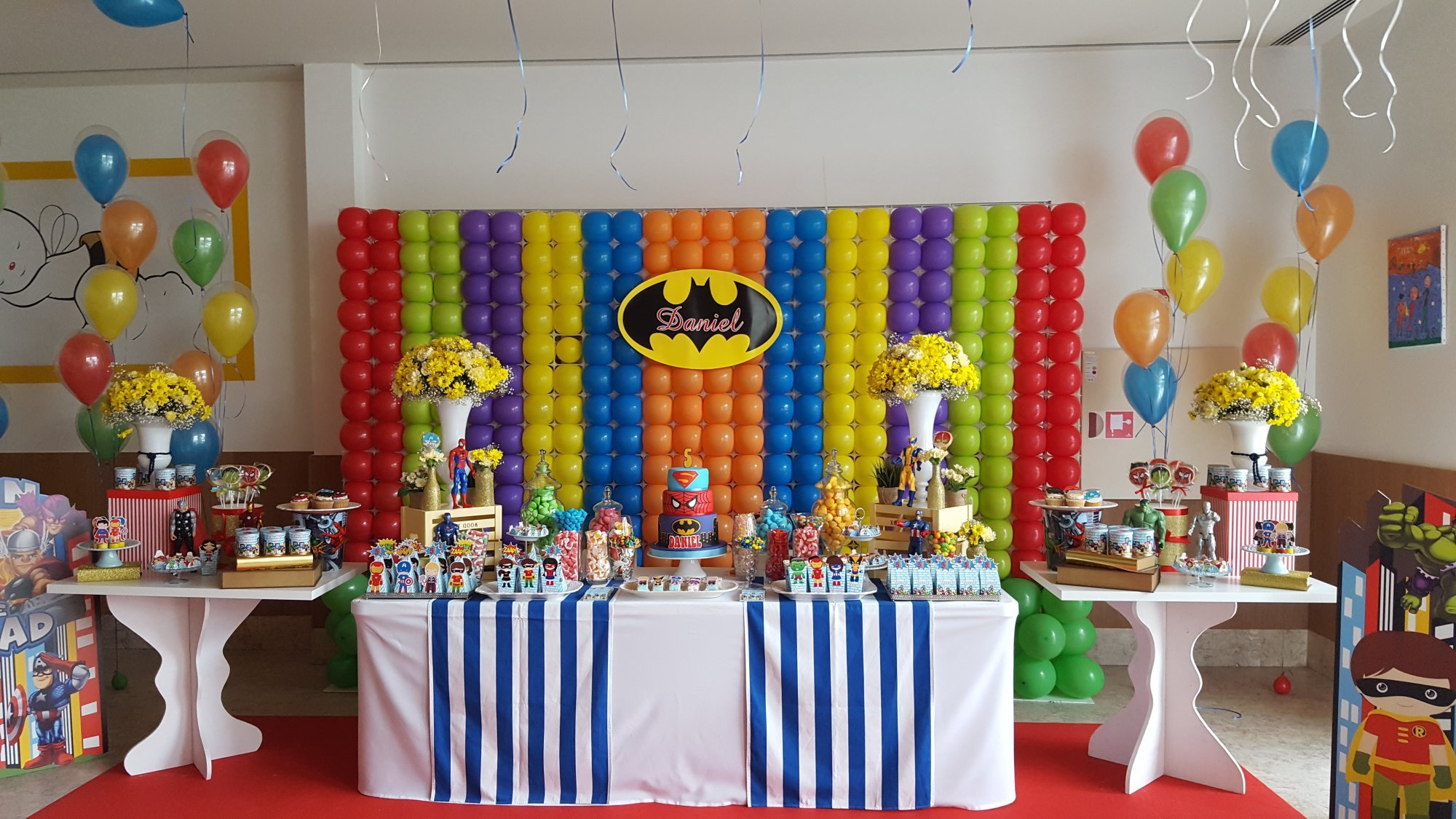 Decoração de festa infantil tema Liga da Justiça - Batman