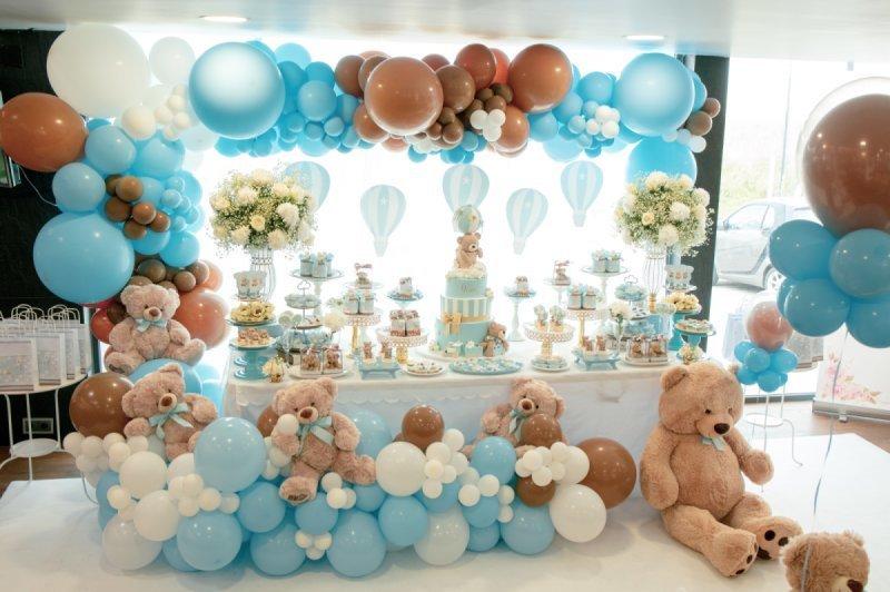 Decoração de festa infantil menino tema cor Azul