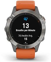 fēnix 6 Pro et fēnix 6 Sapphire avec affichage du suivi de la respiration