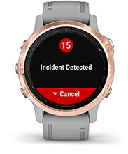 fēnix6S Pro et fēnix6S Sapphire avec affichage des fonctions de suivi et de sécurité