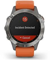 fēnix 6 Pro et fēnix 6 Sapphire avec affichage des fonctions de suivi et de sécurité