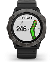 fēnix6X Pro Solar avec affichage de parcours de golf
