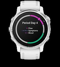 fēnix6S avec écran du suivi menstruel