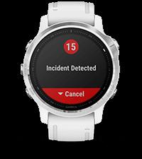 fēnix6S avec affichage des fonctions de suivi et de sécurité