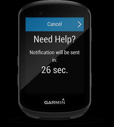 Edge 530 avec écran de détection d'incidents