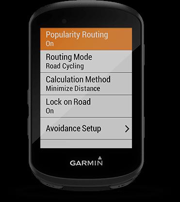 Edge 530 avec écran Trendline