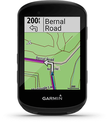 Edge 530 avec écran de calcul d'itinéraires