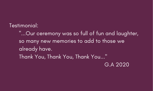 Testimonial from happy client G.A 2020