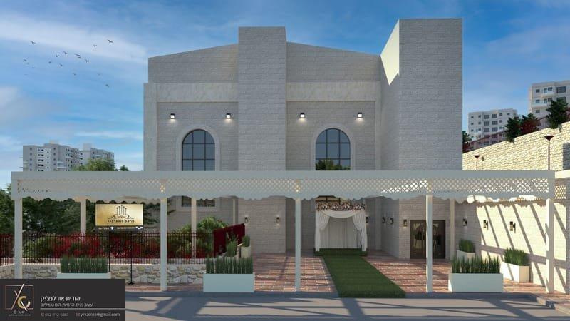 הדמיית בניינים ומוסדות ציבור.