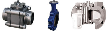 rotaty valve examples: Ball, Butterfly, Plug