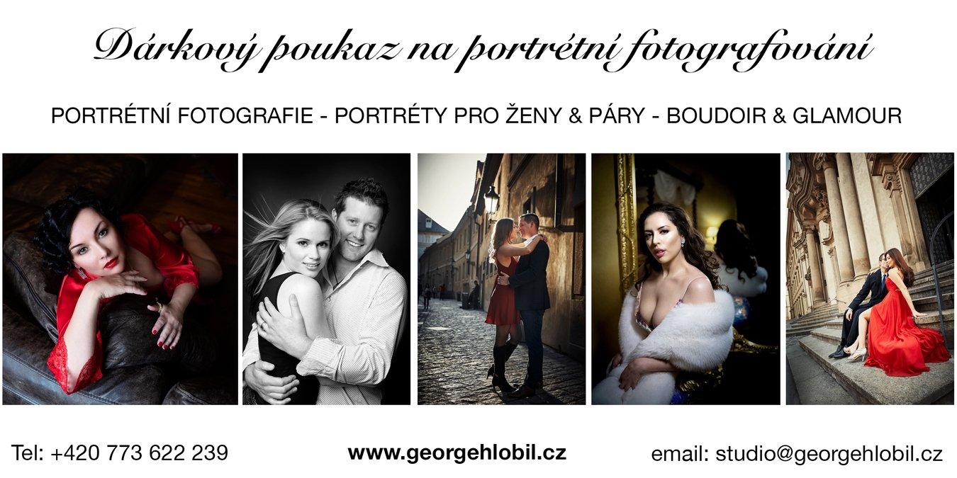 Dárkový poukaz na focení - Portrétní fotografie párů Praha - Focení boudoir pro ženy - Portréty pro páry - Portrétní fotografie pro ženy