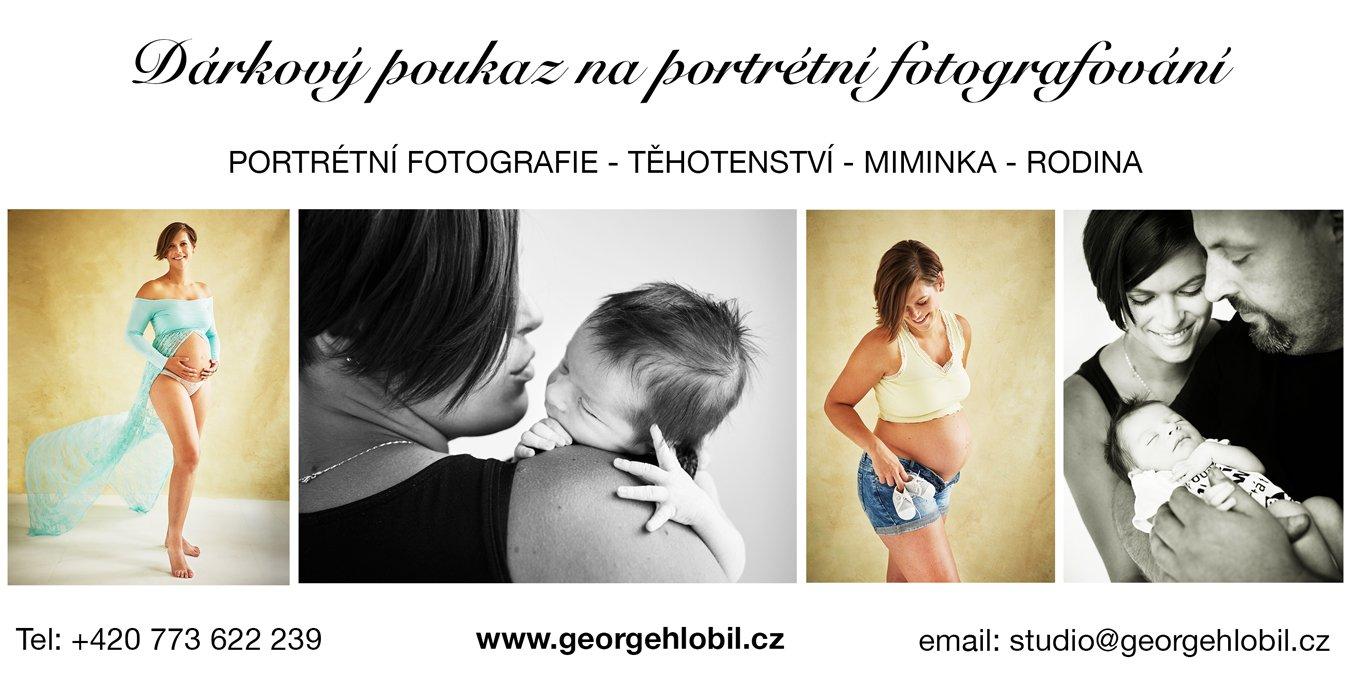 Dárkový poukaz na focení Praha - Těhotenské portréty - Rodinné portrétní fotografie - Focení miminek a dětí