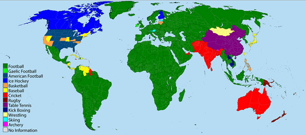 Mappa sport valore squadre calcio
