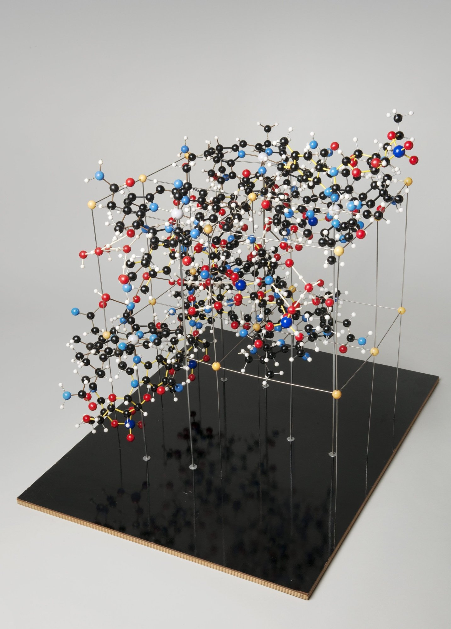 The structure of vitamin B12, solved by Dorothy Hodgkin (source: London Science Museum)