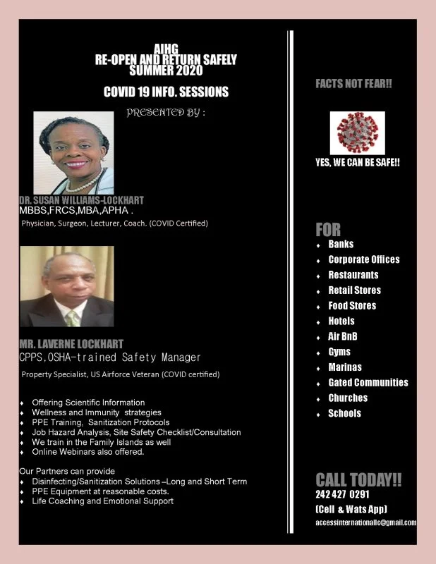 COVID information Sessions