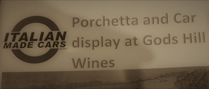 Italian Made Cars-Porchetta and Display Day at God's Hill Winery