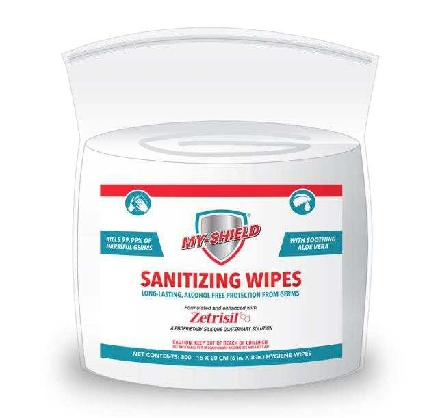 Myshield Sanitizing Wipes