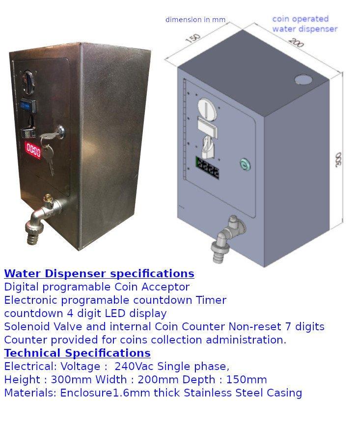 water dispenser carcare wash bay