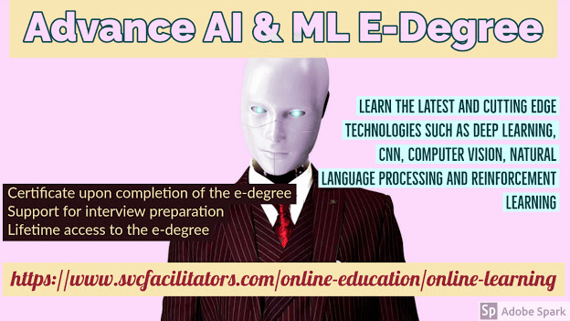 Image describing advance AI and ML E-degree courses