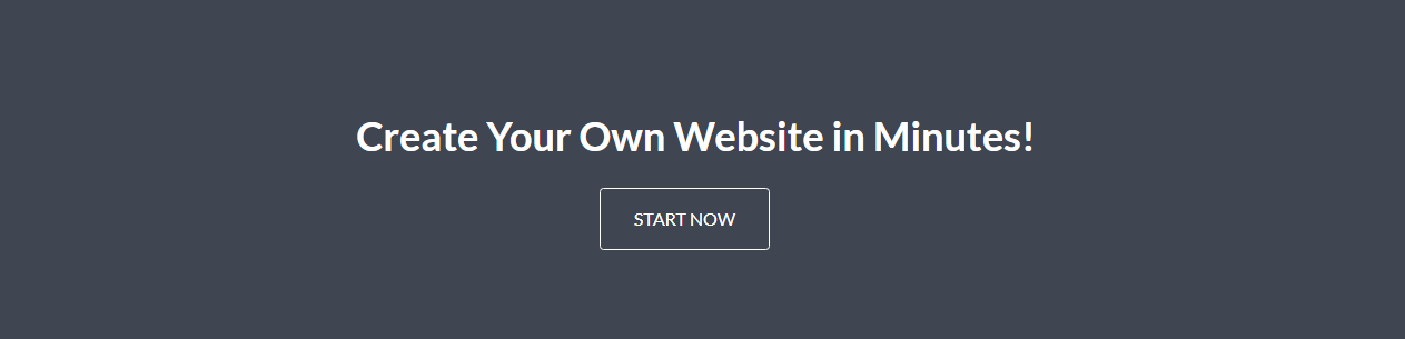 Create your website in a minute without any coding knowledge