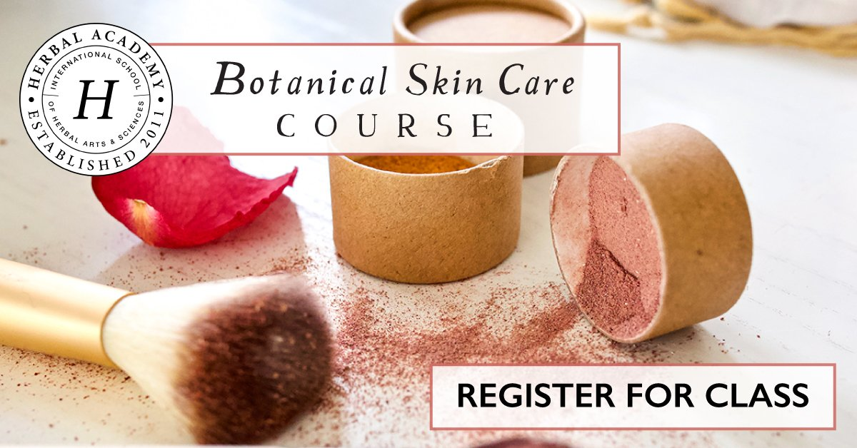 Botanical Skin Care Course will empower you to create your own skincare recipes using herbals and other safe, nourishing and non-toxic ingredients.