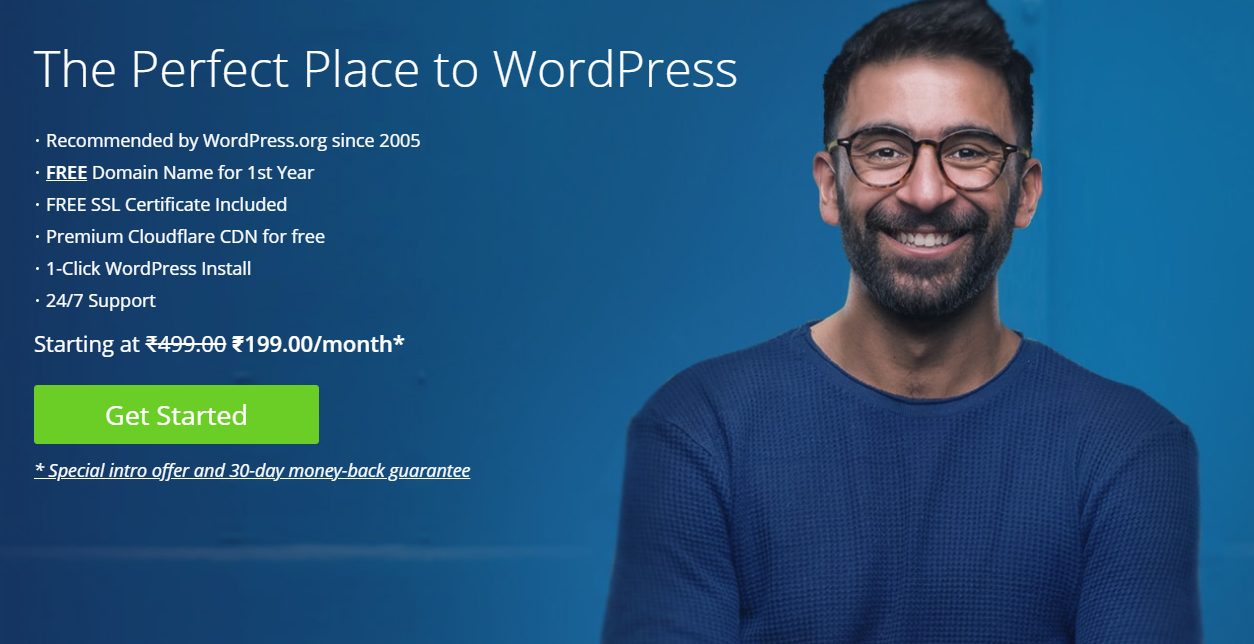 A perfect wordpress hosting recommended by WordPress.org