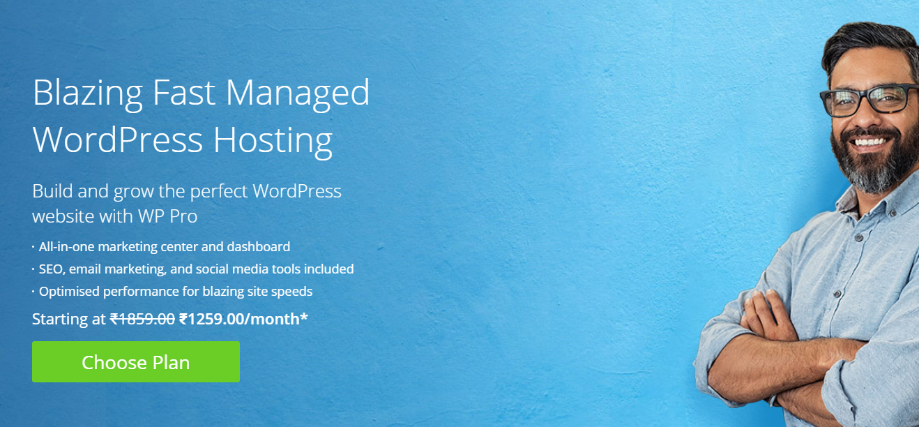 Get fully managed WordPress hosting with automatic updates along with backups, details website analytics, SEO and keyword suggestions and other features