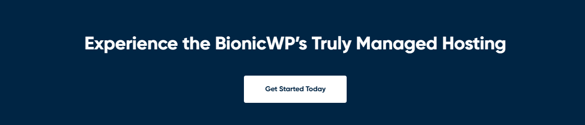BionicWP - A fast and reliable WordPress hosting provider