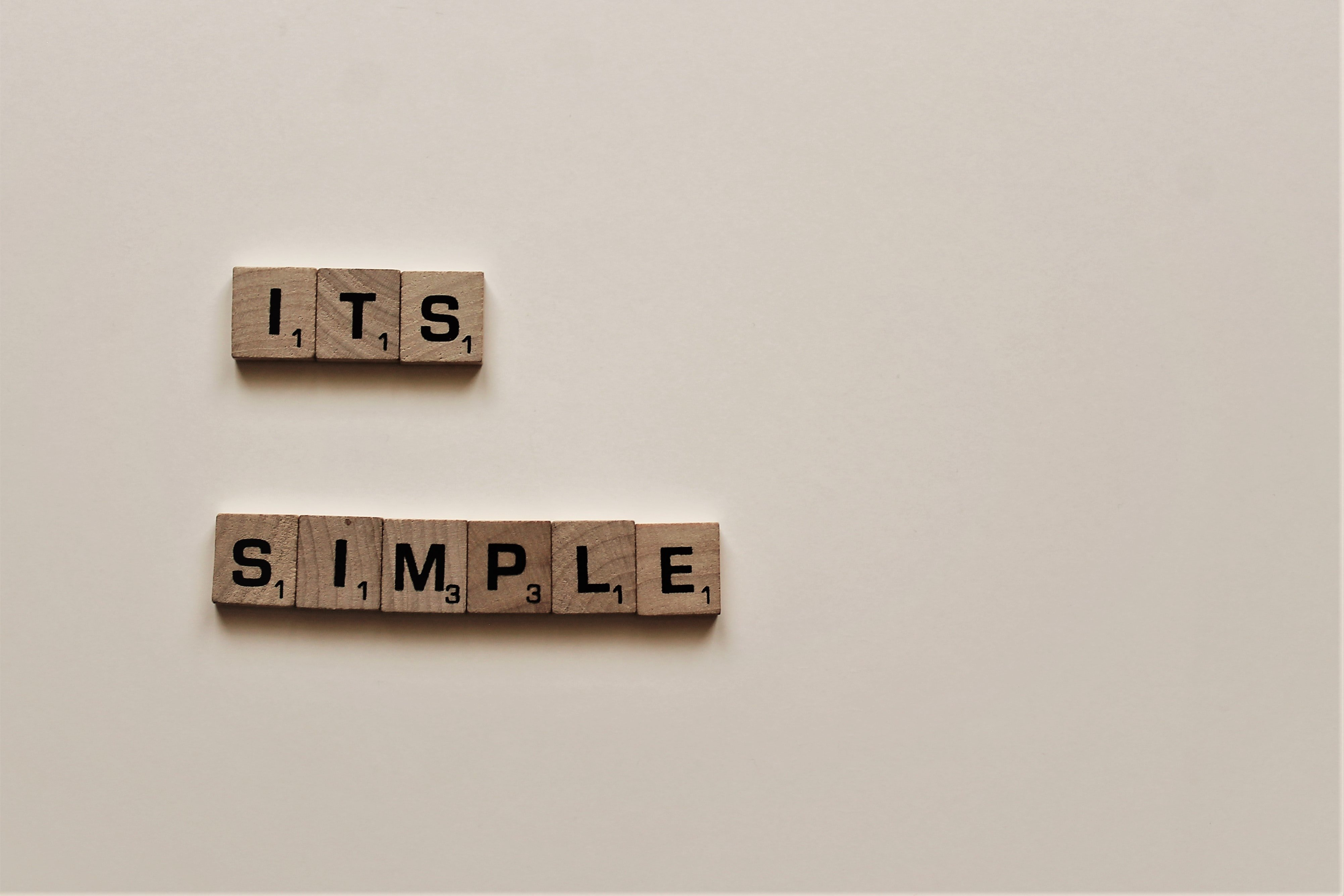 """""""It's Simple"""" quote"""