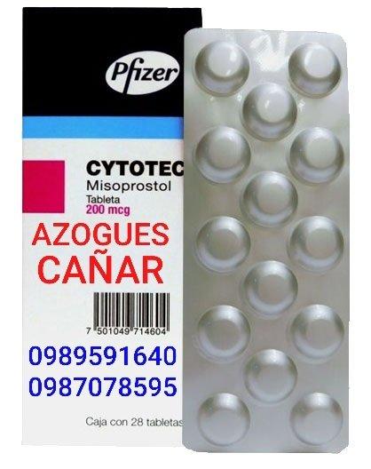 VENTA DE PASTILLAS CYTOTEC MISOPROSTOL 200 mcg EN AZOGUES 0989591640