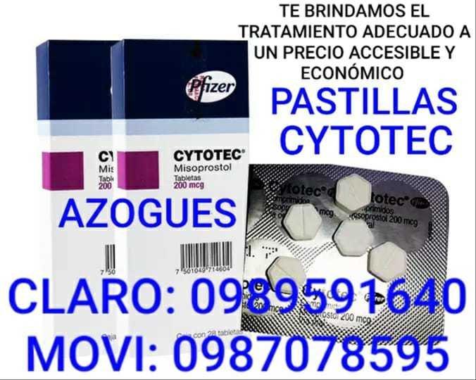 PASTILLAS CYTOTEC MISOPROSTOL EN AZOGUES CAÑAR ECUADOR 0989591640