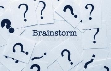 Brainstorm concept. Close up of Brainstorm concept royalty free stock photo