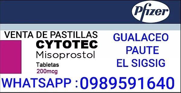 PASTILLAS CYTOTEC, COMO APLICAR, EN GUALACEO 0987078595
