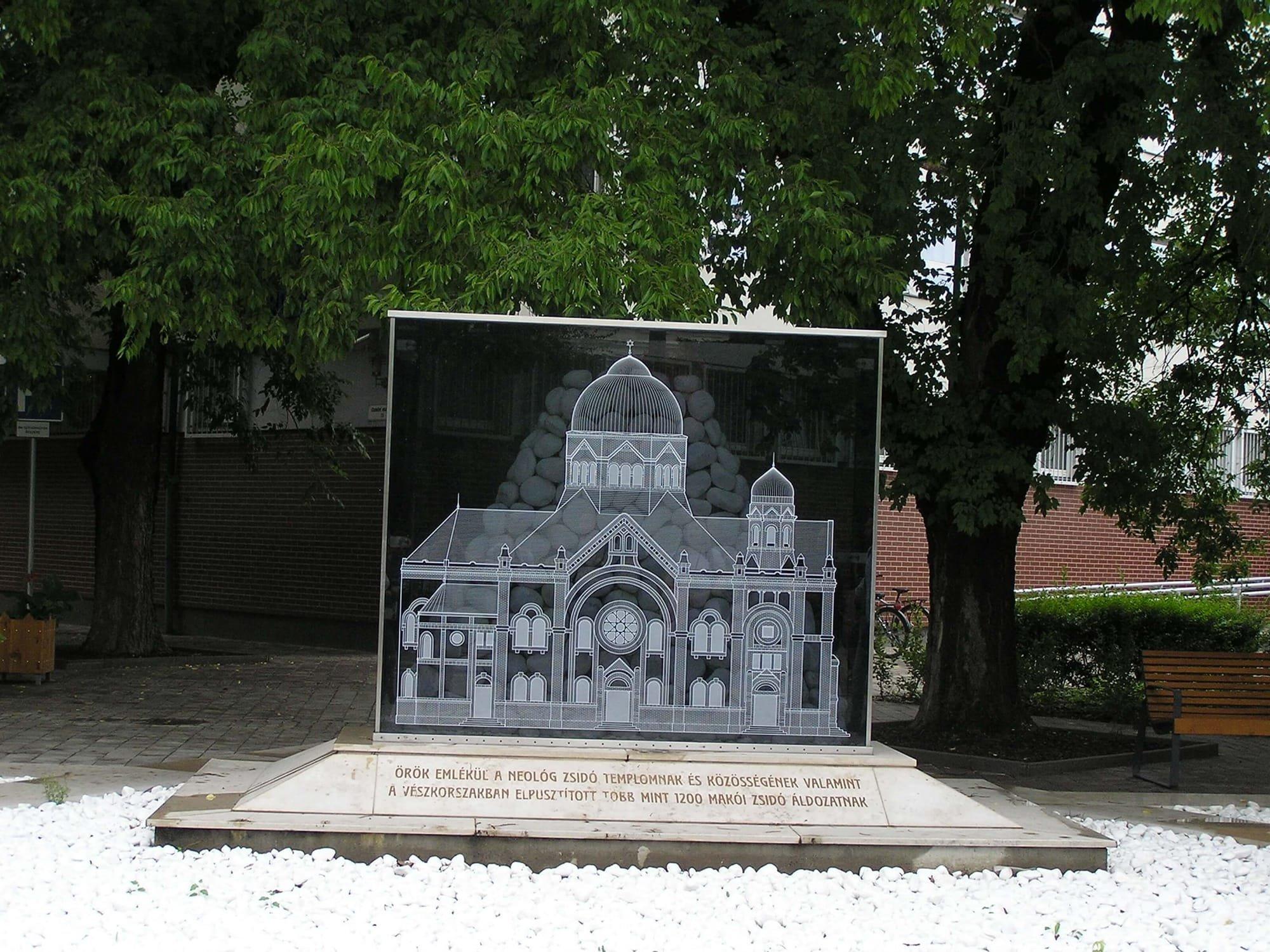 placa memoriala sinagoga neologa Mako