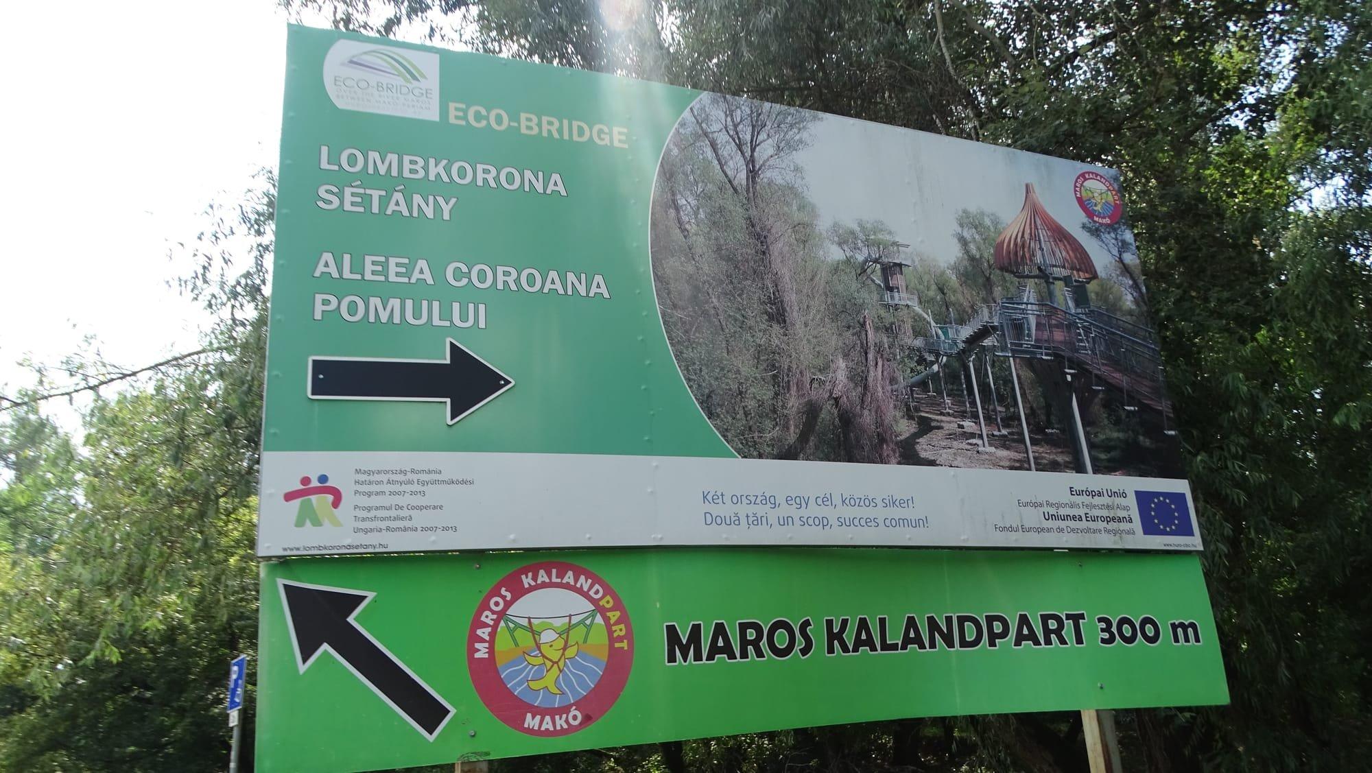 indicator parc aventuri promenada coroanelor MAKO