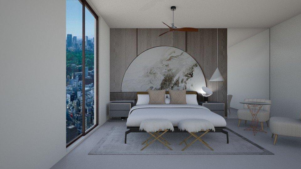 עיצוב חדר שינה - חיפוי קיר בחדר השינה