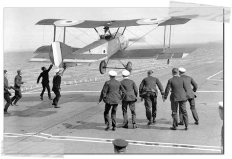 edwin harris dunning landing warship