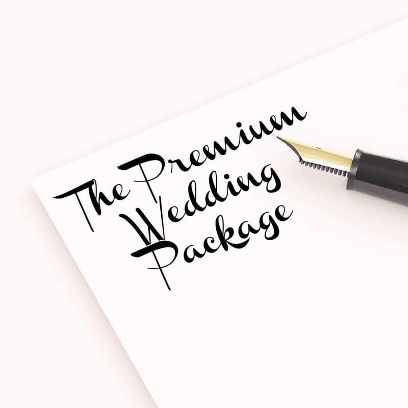 The Premium Wedding Package - £1200