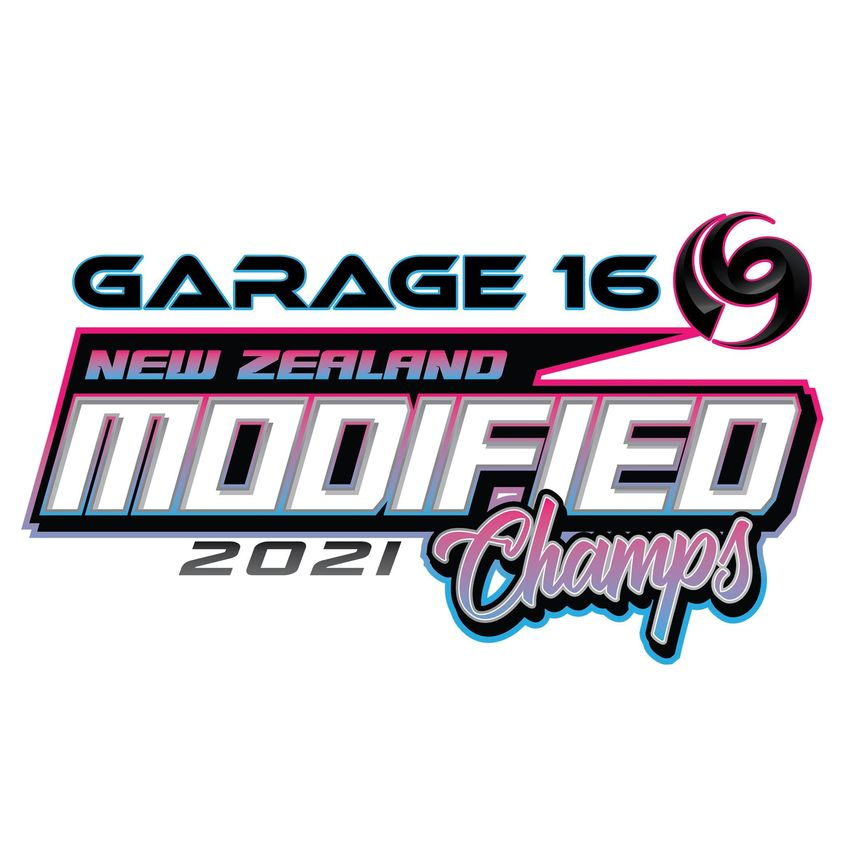 """May be an image of text that says """"GARAGE 16 NEW ZEALAND MODIFIED 2021 Champs"""""""