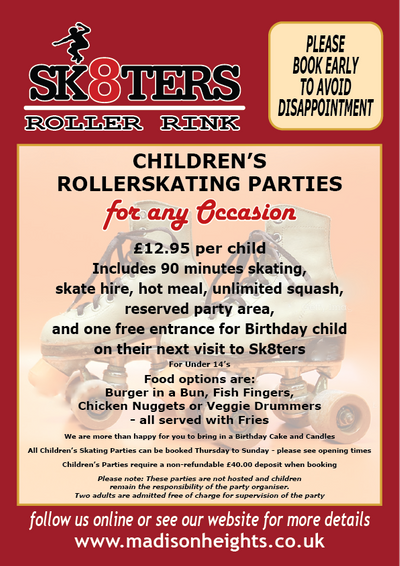 Children's Roller skating party