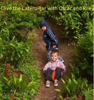 Clive the Caterpillar with oscar and riley