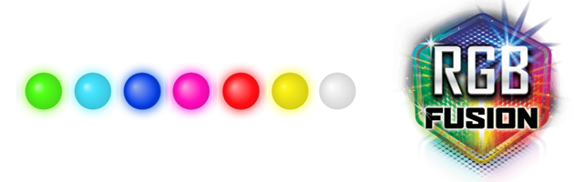 RGB Fusion logo and 7 colors
