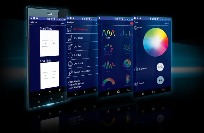 screenshot of GIGABYTE RGB Fusion APP