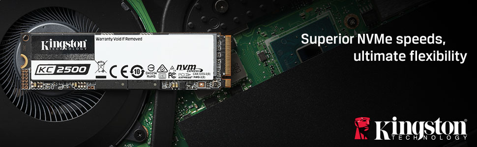 Kingston's KC2500 NVMe PCIe