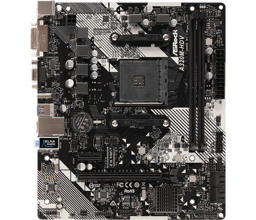 ASRock AMD 320M HDV R4.0 Motherboard