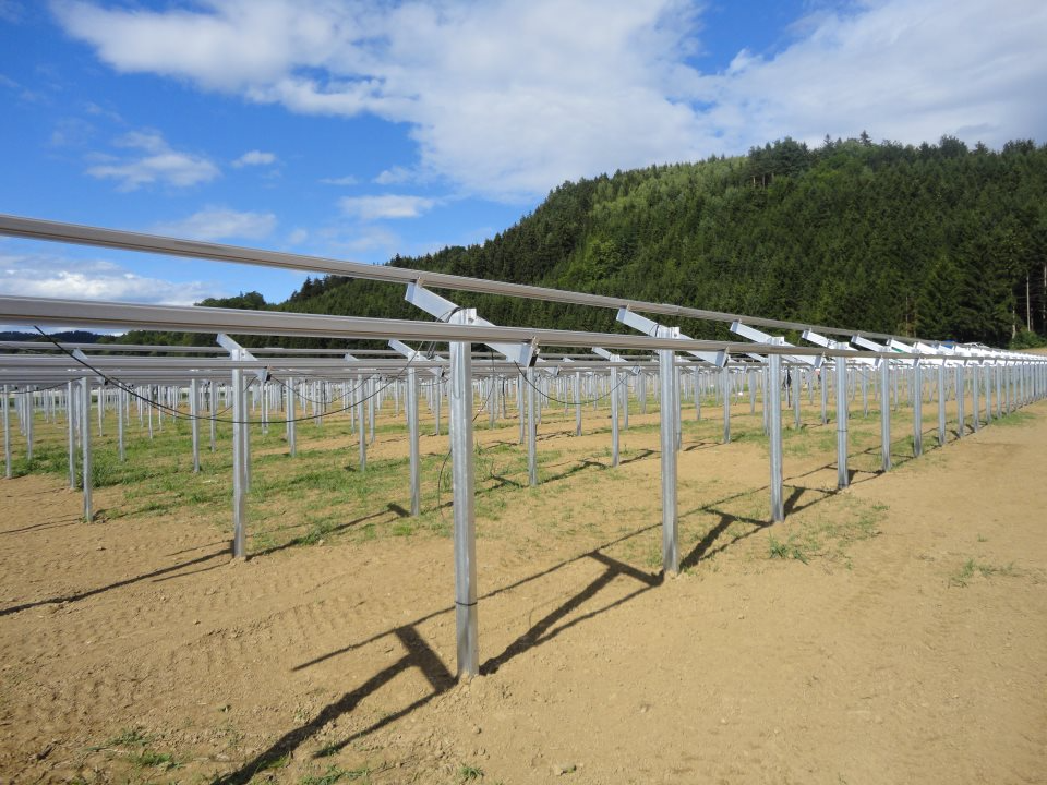 Ground Mounted Commercial Solar PV Panel Mounting System