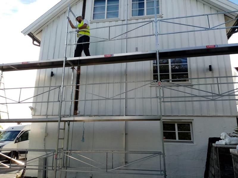 utvendig maling av hus
