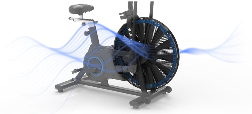 hb005 ultra bike air bike illustration of drive system and wheel