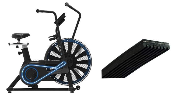 picture illustrating hb005 air bike drive system