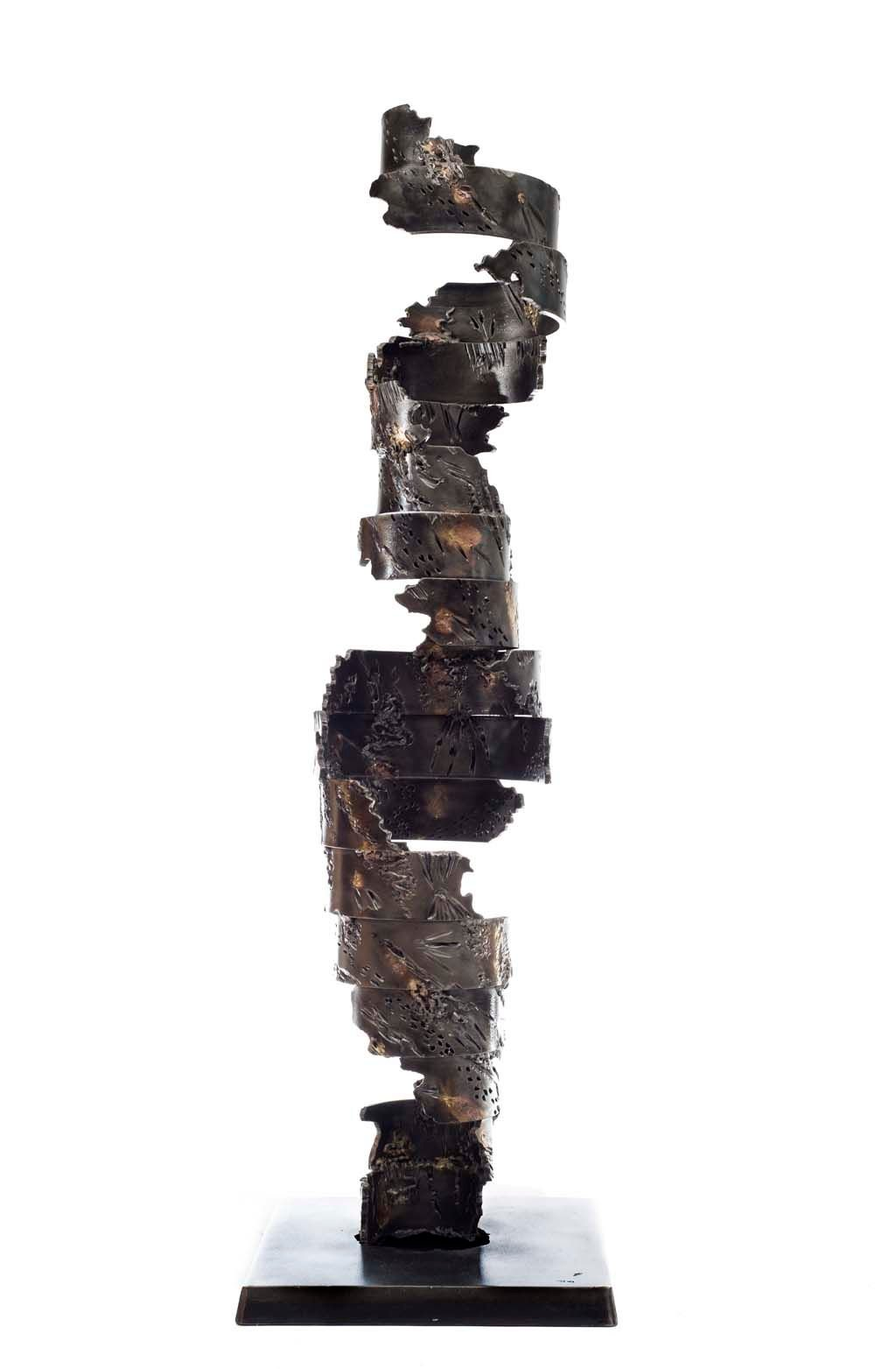 Insights V | 2013 | Iron & brass sculpture | 148x40x40 cm | Rami Ater